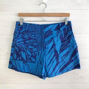 J.Crew - Tropical blue linen shorts, sz 6