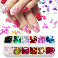 1 Box Nail Glitter Sequins Butterfly Flakes Home Manicure Supplies Sparkly