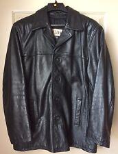 Wilsons Mens Black Leather Jacket M.Julian Size XL