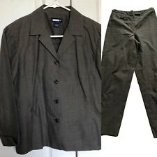 Ann Taylor LOFT Petites Career Dress Pant Suit Jacket Set Women's Sz 6P 6 Gray