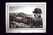 L'isola di Egina, Grecia Incisione del 1850 L'Univers pittoresque