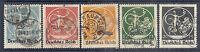 1920 Germany Bavaria 271-275 Overprint Issue, Art Nouveau - Postally Used*