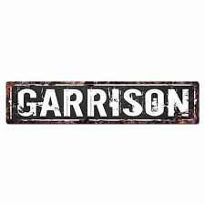 SLND0611 GARRISON Street Chic Sign Home man cave Decor Gift Ideas