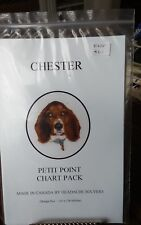 Vtg micro petit point chart Headache Solvers Basset Hound 116x128 stitches NEW