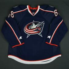2015-16 Markus Soberg Columbus Blue Jackets Game Issued Hockey Jersey MeiGray