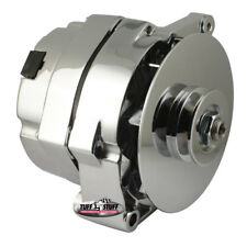 Tuff Stuff Alternator 7127NK; Internal Regulator 1-Wire Capable Chrome 140 Amp