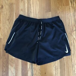 "Nike Men's Flex Stride 5"" Brief-Lined Running Shorts CT7888-010 Black Size L New"