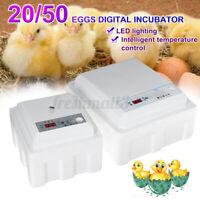 20/50Egg Incubator Digital Automatic Turning Temperature Control Chicken