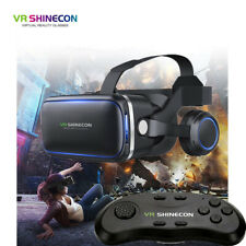 More details for 3d vr headset glasses 360° goggles virtual reality mobile phone + remote control