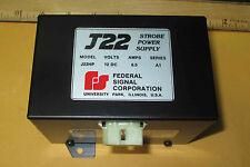 J22hp Federal Strobe 65 Amp Power Supply 12vdc New Old Stock