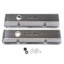 Edelbrock 4262 Elite II Valve Covers - Aluminum, For 1959-1986 Chevy 262-400 V8