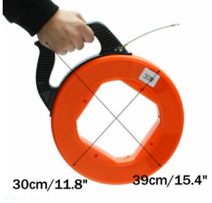 Metall Kabel Einziehhilfe Einziehband Einziehspirale Einziehdraht Kabeleinzug