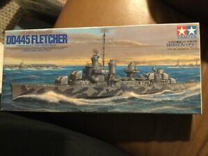 Tamiya 78012 1/350 US Navy DD445 Fletcher Destroyer Plastic Model Kit Brand New