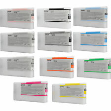 11 x Cartucce Originali per Epson Stylus Pro 4900 per 200ml t6531-t6539 cartridge