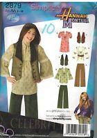 2879 Vintage Simplicity Sewing Pattern Girls Pants Dress Top Vest Hannah Montana