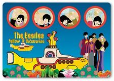 The Beatles Mouse Mat Pad Yellow Submarine & Portholes Band Logo new Official