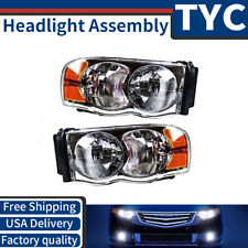 TYC 2X Left + Right Headlight lamp Assembly Kit Set For 2003-2005 Dodge Ram 2500