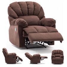 Manual Recliner Chair Sofa Bed Armchair Sleeper Overstuffed Backrest Living Room