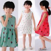 Toddler Girls Summer Princess Dress Kids Baby Pageant Wedding Sleeveless Dresses
