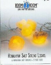 Himalayan Salt String Lights 6 crystals on 5 foot cord