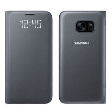 NEW SAMSUNG LED VIEW BOOK COVER PROTECTIVE FLIP CASE FOR SAMSUNG GALAXY S7 BLACK