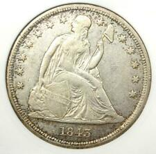 1843 Seated Liberty Silver Dollar $1 - ANACS XF45 (EF45) - Rare Certified Coin!