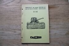 CLAYSON M140 SPARE PARTS LIST - NR 7039 - 1967 - NEW HOLLAND - COMBINE HARVESTER
