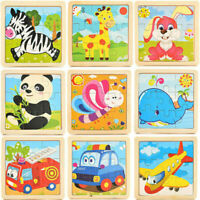 DIY For Baby Kids 3D Wooden Puzzle Cartoon Learning Educational Development Toy