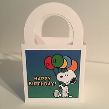 20 Snoopy HAPPY BIRTHDAY Party Favor LOOT Treat BOXES/ BAGS