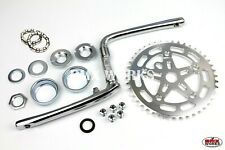 ProBMX Old School Style Crank Spider Chainring Bearing Set 110 BCD Silver