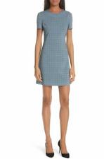 NWT THEORY WOMENS JATINN BLUE WOOL STRETCH DRESS SZ 8  $395 Free shipping