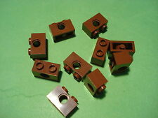LEGO Bau- & Konstruktionsspielzeug Lego TECHNIK LEGO Bausteine & Bauzubehör 4x Lego Ziegel 1x2 Loch braun/rötlich braun 3700 neu