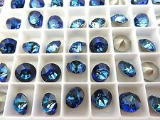 12 Bermuda Blue Foiled Swarovski Crystal Chaton Stone 1088 39ss 8mm