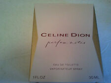 Vintage Celine Dion Parfum Notes 30ml EDT Spr.Women's Fragrance Rare Discontinue