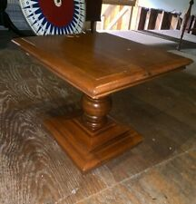 Antique Maple Square Table Plant Lamp Stand Cinnamon