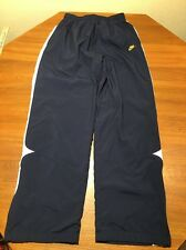 Nike Wind Pants Track Running Youth XL Blue Swoosh Zippered Mesh Lined Polyeste