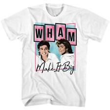 Wham! George Michael Andrew Ridgeley Pop Rock Musical Duo Band Concert T-Shirt W
