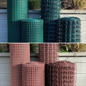 Plastic Fence Mesh Garden Border Netting Climbing Plant Trellis Brown or Green