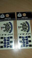 2 Newcastle United FC Niños Tatoo Tranfer conjuntos rrp1.99 cada paquete