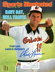 Fred Lynn Autographed March 18, 1985 Issue Sports Illustrated Sure Shot COA