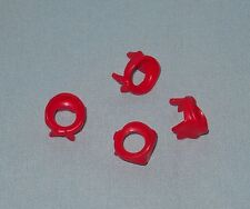 4 NEW LEGO RED BANDANA PIECES FOR COWBOY MINIFIGURES, BODY WEAR