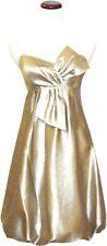 Manoukian Gold Strapless Cocktail Dress