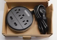 NTONPOWER Power Strip Flat Plug, 3 Outlets and 2 USB Ports New
