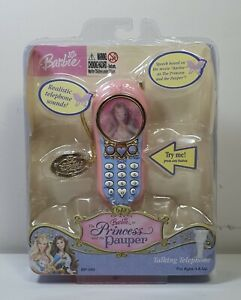 Barbie - Princess and the Pauper Talking Telephone (2004)   Brand New!
