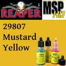 MUSTARD YELLOW 29807 - MSP HD 15ml 1/2oz paint pot peinture REAPER MINIATURE
