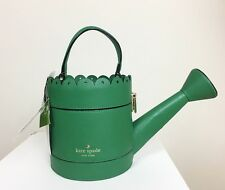 NWT KATE SPADE New York Spring Forward Watering Can Bag NEW Clutch green