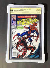 New ListingAmazing Spider-Man #361 Cbcs 9.8 Ss Stan Lee🔥1St Full App Carnage🔥Newsstand