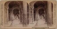 Vaticano Museo Roma Italia Foto Stereo Vintage Albumina 1897
