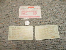 Walthers decals HO Accesories / Specialties N-08 Pullman car names gold  M152