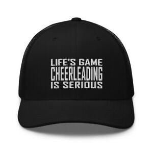 Funny Cheerleading Cheerleader Embroidered Trucker Hat Cap Clothing Gift